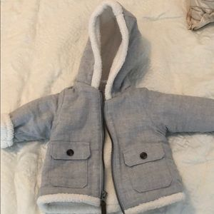 Warm grey fleece jacket